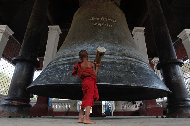 mingun bell is the second largest ringing bell