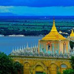panoramic view from Soon U Ponya Shin pagoda Sagaing Hill