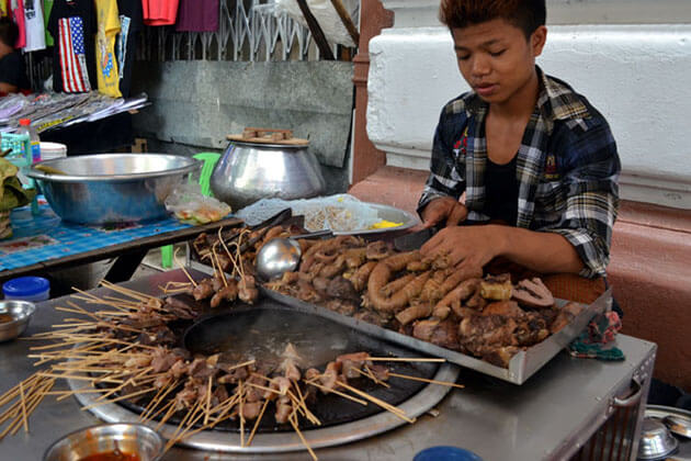 pork stick is a not to miss yangon street food