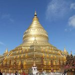 the main golden stupa of Shwezigon temple is where to keep the relic of Buddha