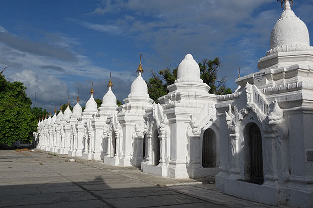 the marble scripts in Kuthodaw-the largest book in the world