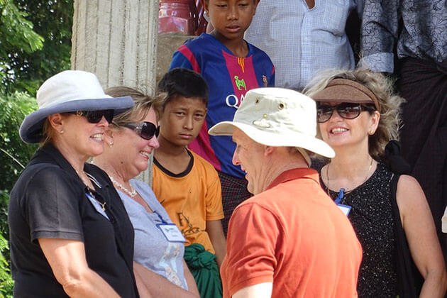 tourists in tagaung