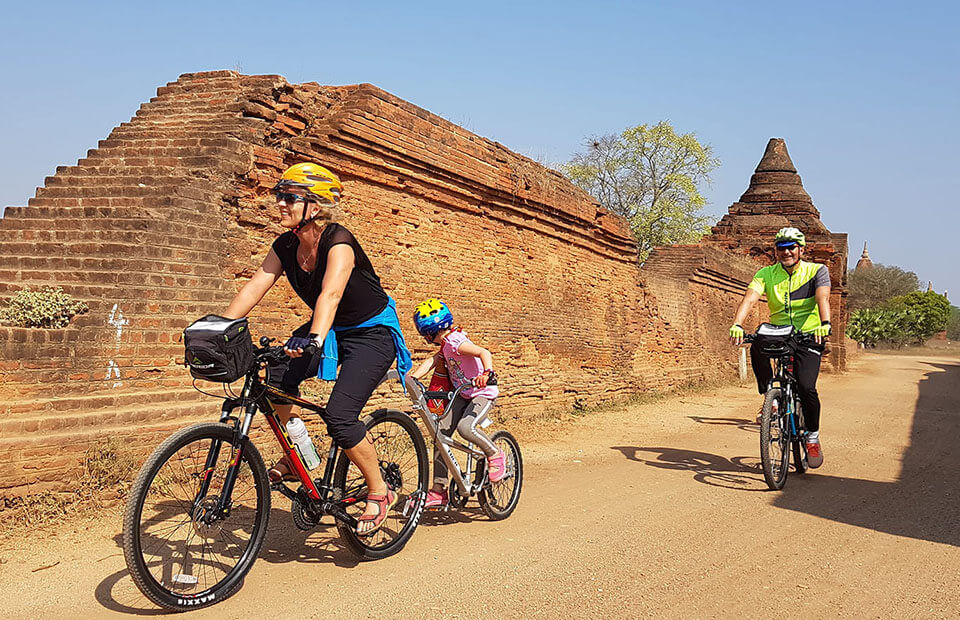 Cycling is one of the cool things to do in Myanmar family tours