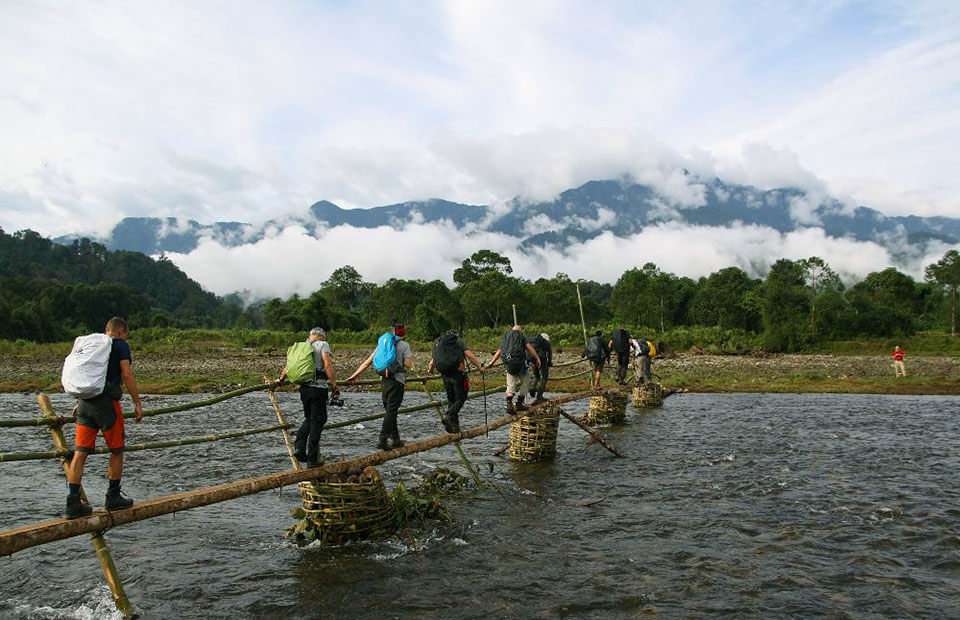 Passing through the dramatic landscape in Myanmar trekking tours is a great experience