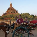 bagan temple tour on a horse cart