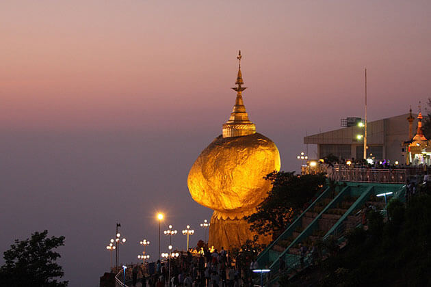 enjoy Myanmar honeymoon vacation with a visit to the golden rock