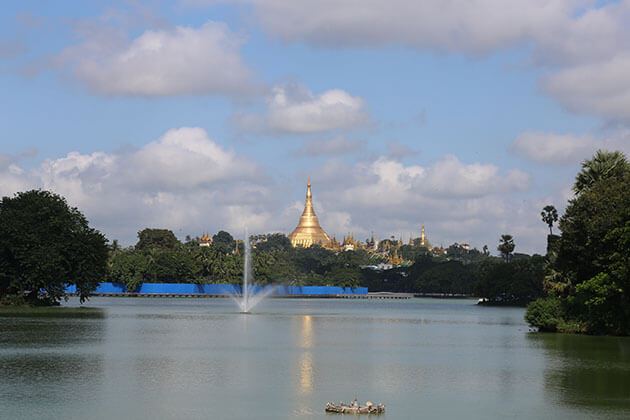 kandawgyi lake is an ideal destination for tourists in Myanmar