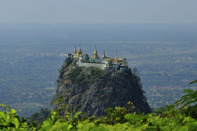 mount popa is home to the nat worship of Myanmar