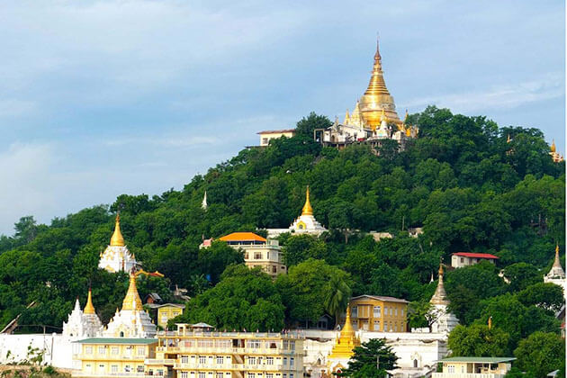 visit Sagaing Hill in Irrawaddy River Cruise