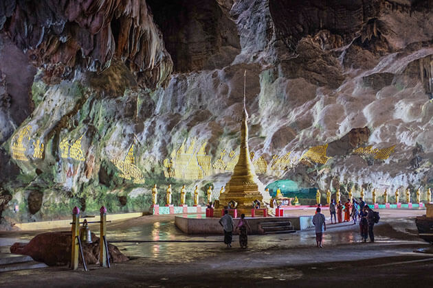 walk bare foot on Saddar cave in Myanmar tours 2019 is amazing experience