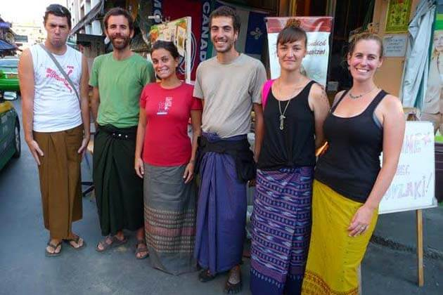 wearing longyi is an unuasual thing to do in day trips from Yangon