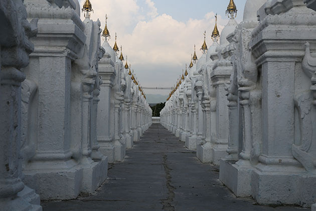 kuthodaw pagoda marble slabs where inscripted with Buddhist philosophy