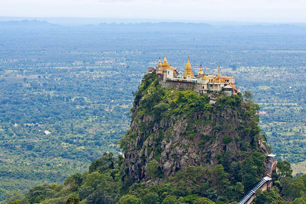 mt popa in bagan is home to 37 nats of myanmar