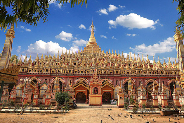 thaboddhay pagoda - main attraction in monywa