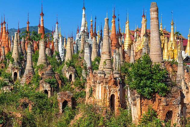 Indein temple - beautiful attraction for river cruise burma