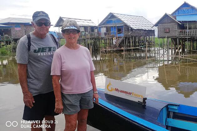 Jen Rogers in inle lake