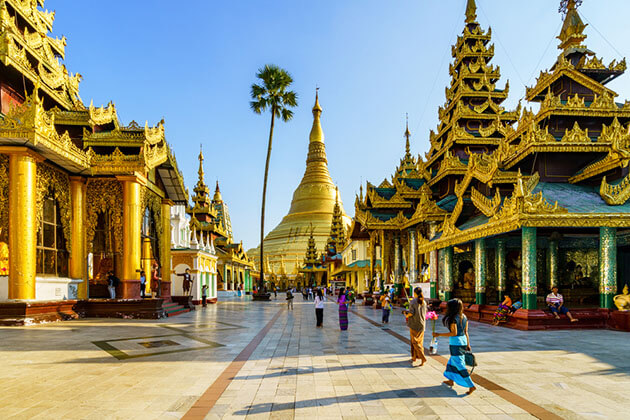 Shwedagon Pagoda - must see spot for myanmar river cruise