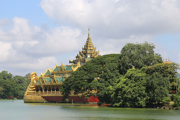 Kandawgyi Lake - top tourist spot in Yangon Myanmar