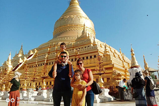 Ms Erin Boutitie family tour in Myanmar