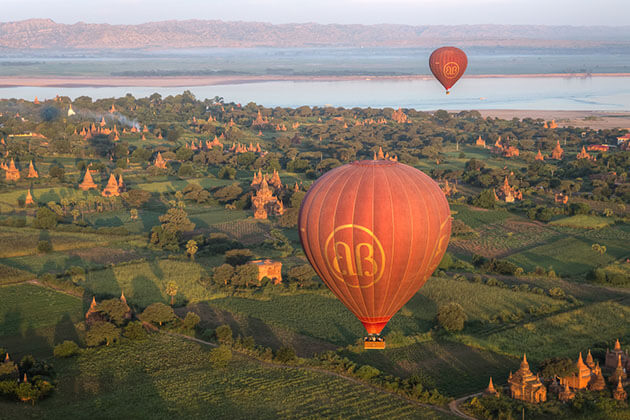 Bagan weather is warm in all year round - Morning in Bagan