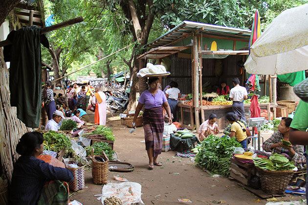 Nyaung U Market in Bagan